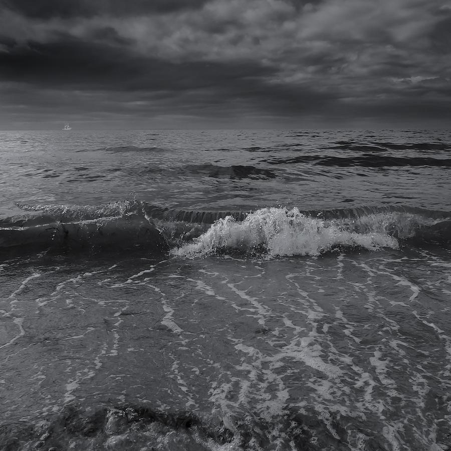 Black and white ocean wave 2014 by dapixara art