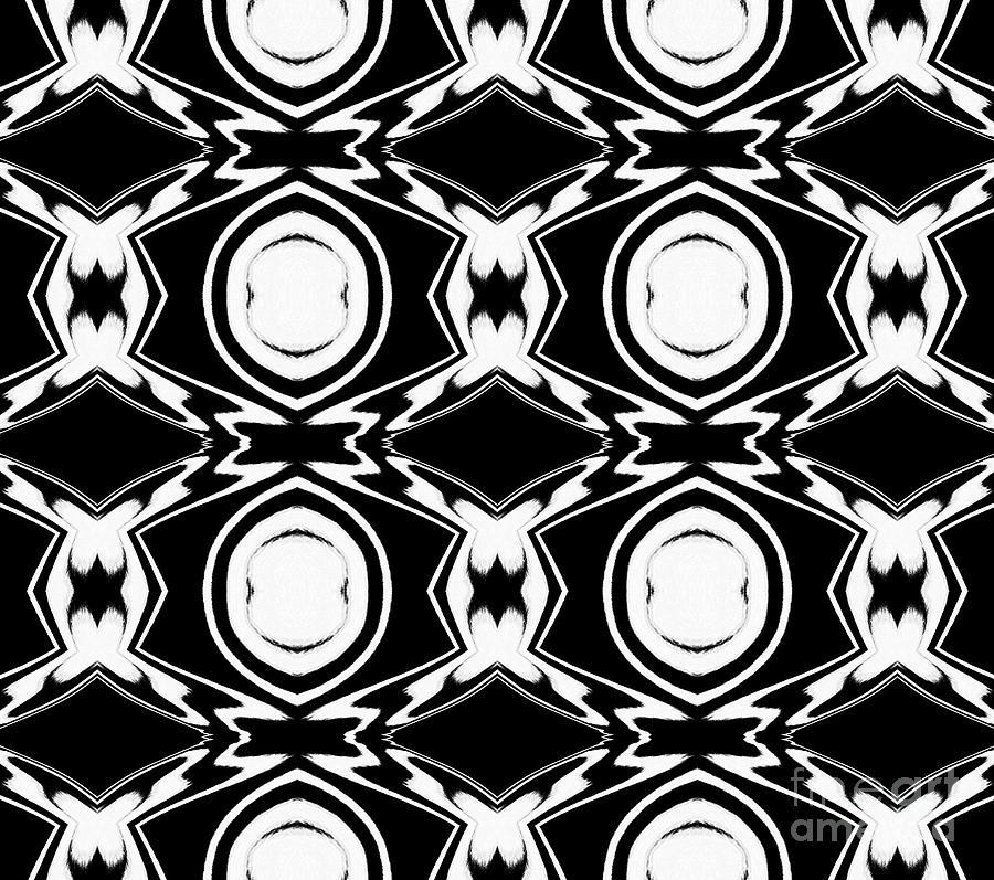 Illustration Digital Art - Black And White Pattern Art No.34 by Drinka Mercep