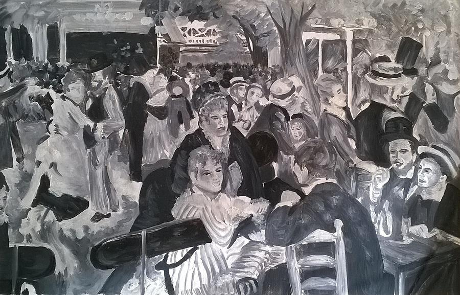 Black And White Renoir Painting By Terese Brown