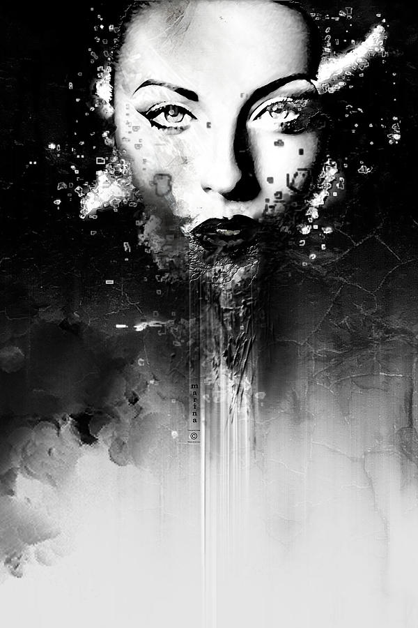 Black and white series 003 digital art by marina vergult for Black and white shows