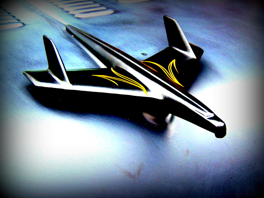 Marshall County Photograph - Black And Yellow Hood Ornament  by Willy  Nelson