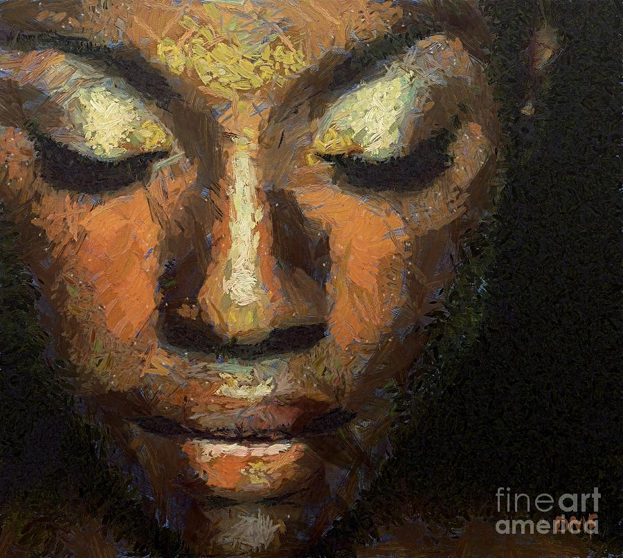 Portraits Painting - Black Beauty by Dragica  Micki Fortuna