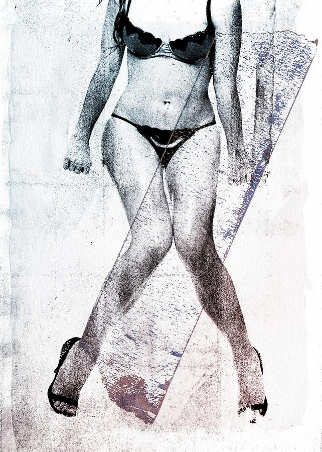 Legs Digital Art - Black Bikini by David Ridley