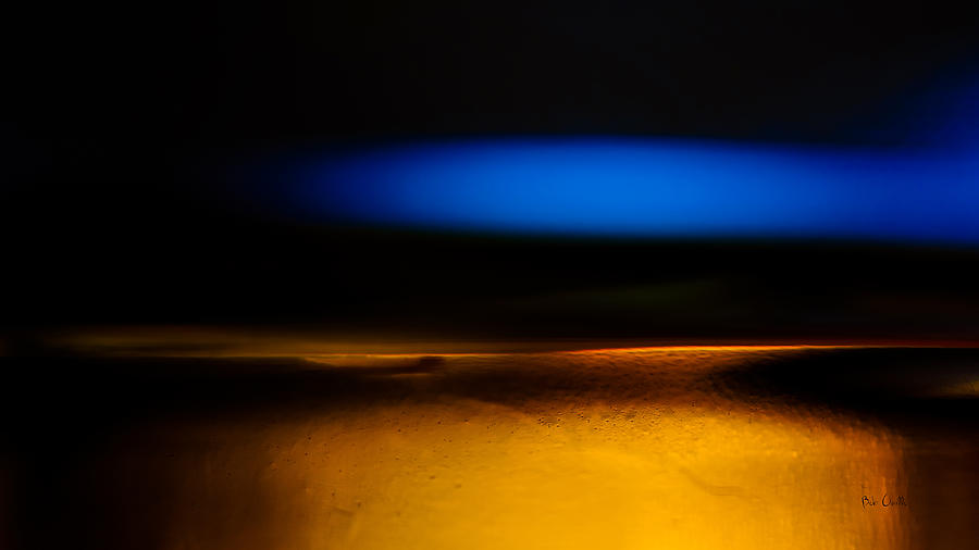 Abstract Photograph - Black Blue Yellow by Bob Orsillo