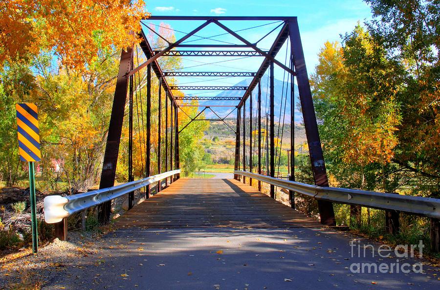 Colorado Photograph - Black Bridge by Bob Hislop