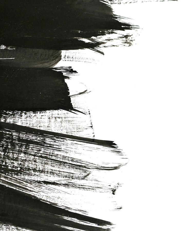 Black Brush Strokes On White Paper Photograph by Marina skoropadskaya