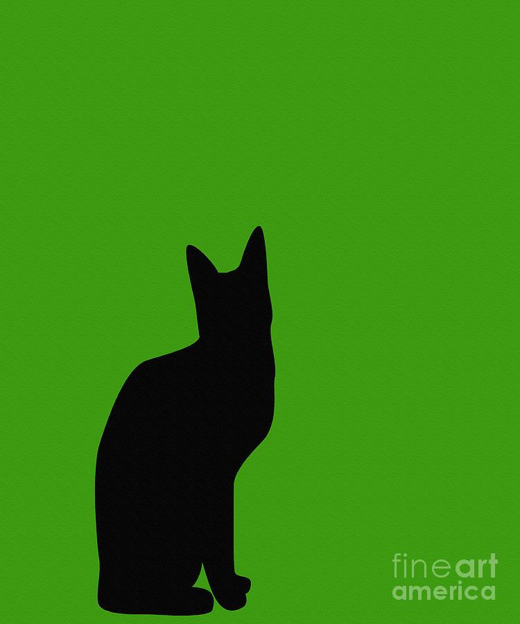 App Green And Black Cat