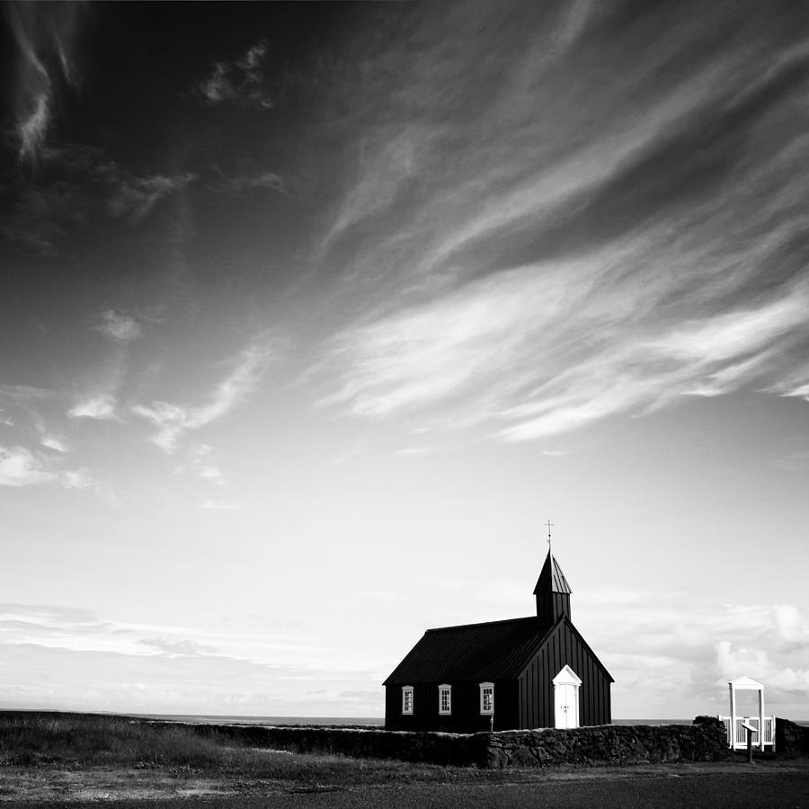 Iceland Photograph - Black Church by Nina Papiorek