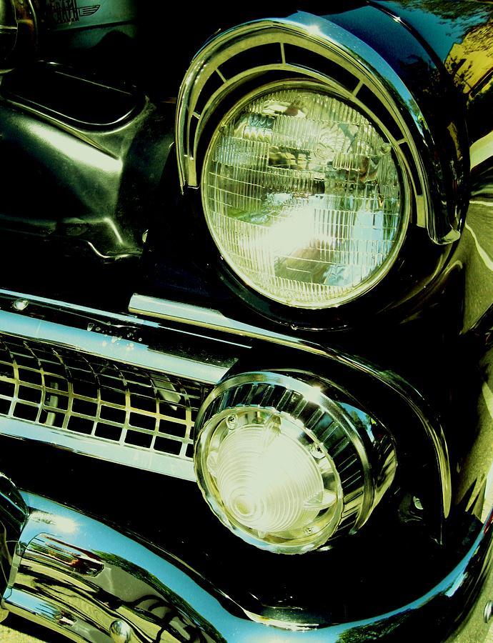 Automobile Digital Art - Black Classic by Kathleen Bischoff