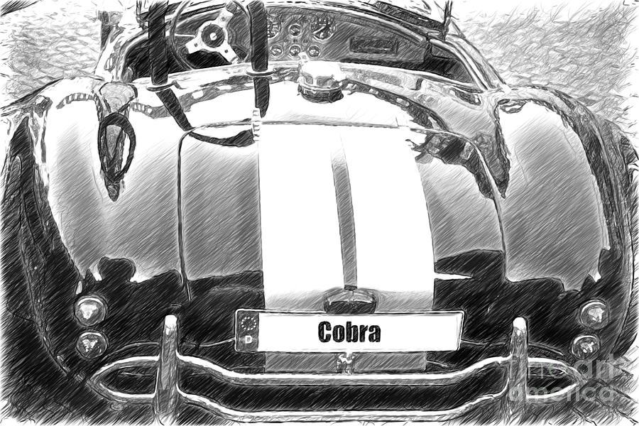 Black Cn Cobra Classic Car Sketch Photograph