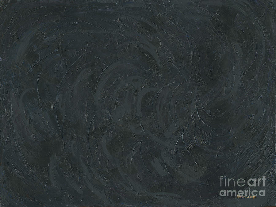 A I Painting - Black Color Of Energy by Ania M Milo