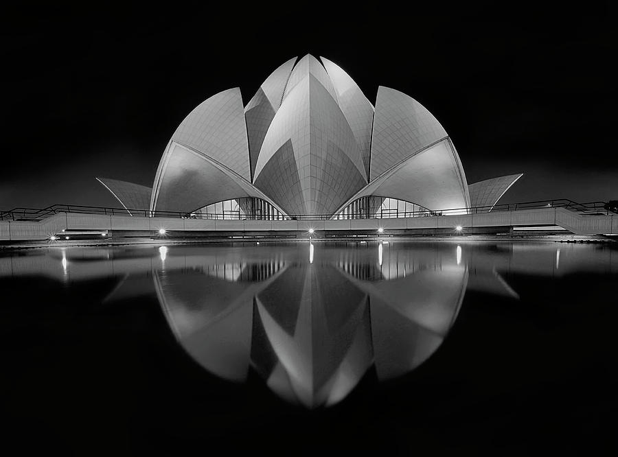 Architecture Photograph - Black Contrast by Nimit Nigam
