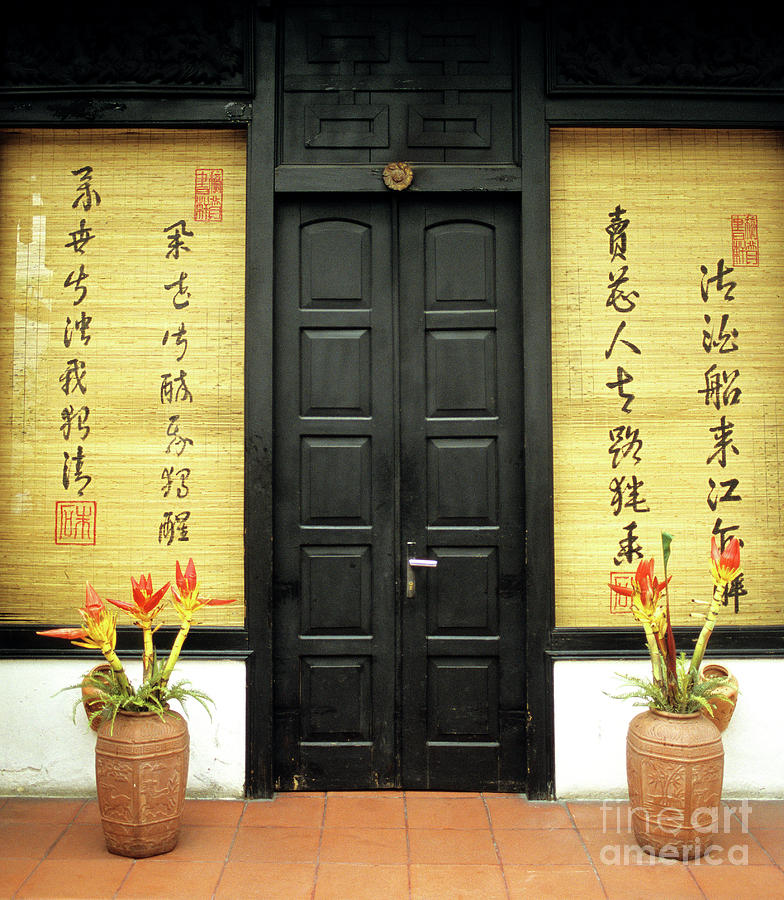Vietnam Photograph - Black Doors by Rick Piper Photography