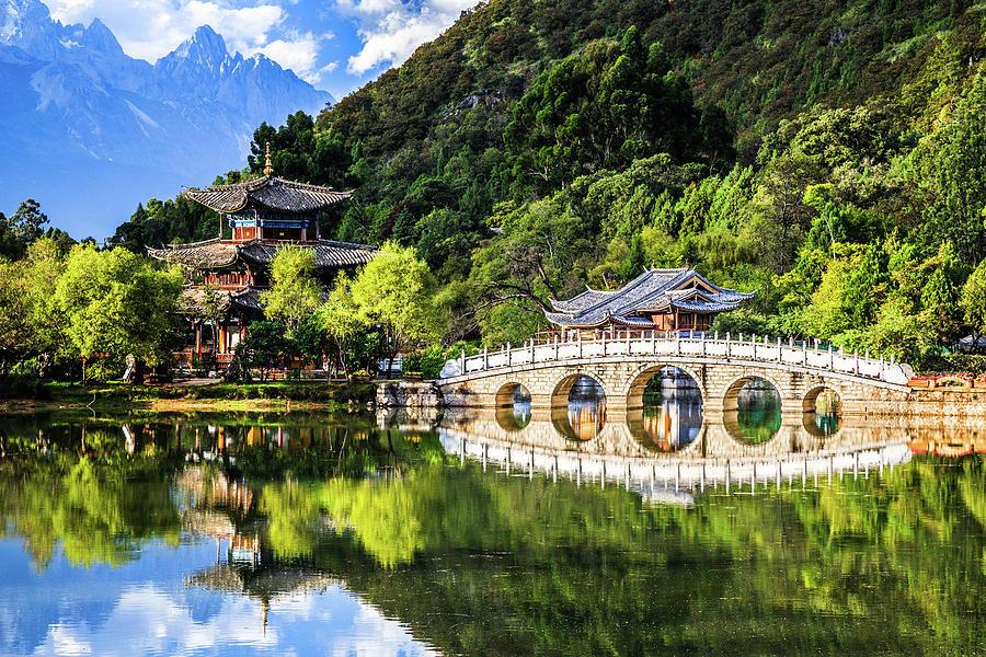 Black Dragon Pool, Lijiang Yunnan China Photograph by Feng Wei Photography