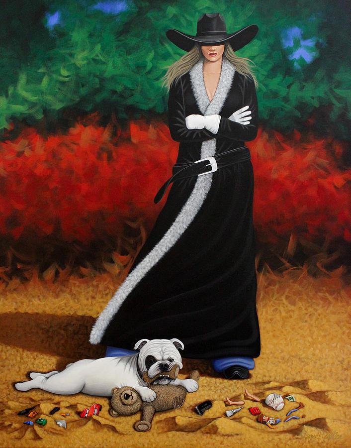 Dog Painting - Black Eyed Bully by Lance Headlee