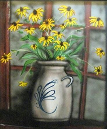 Flowers Painting - Black Eyed Susan by Kendra Sorum