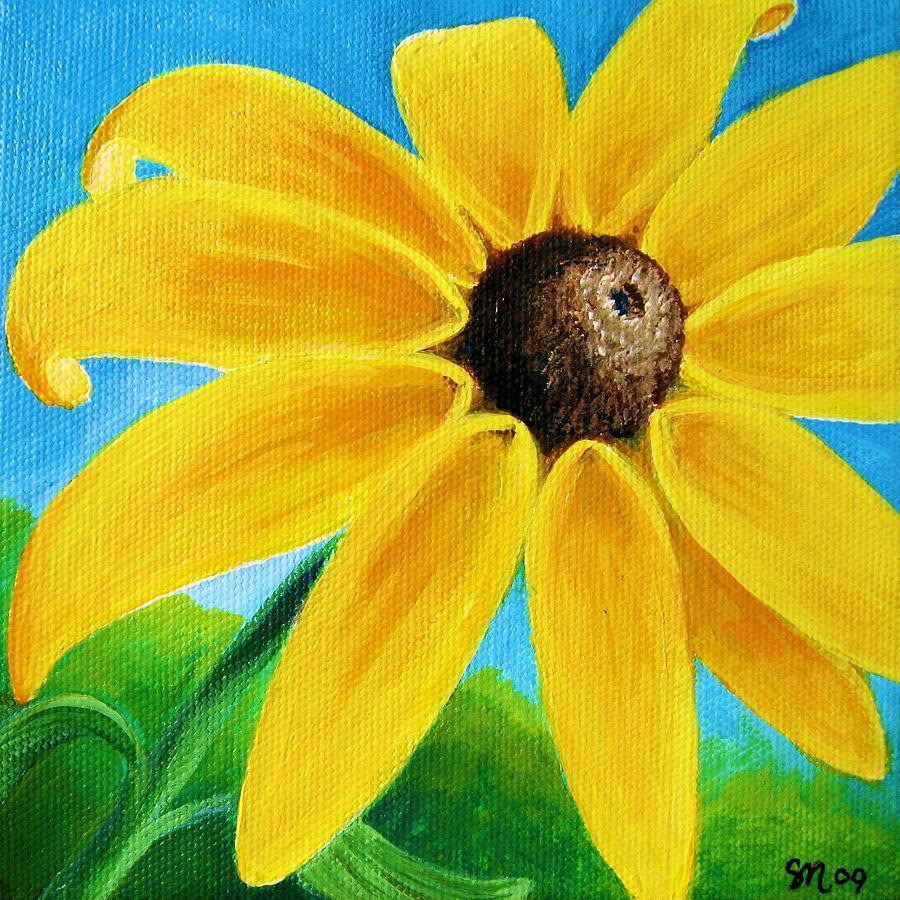 Black Eyed Susan Painting - Black Eyed Susan by Sharon Marcella Marston