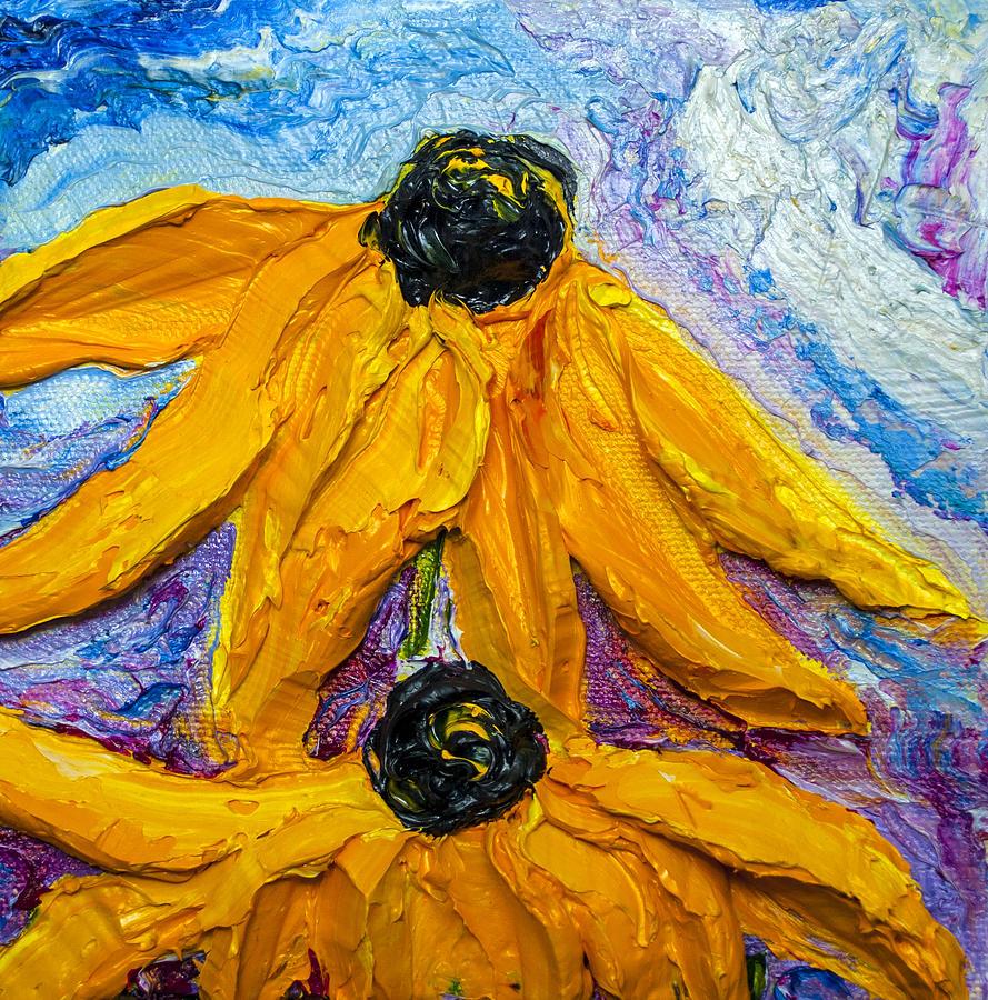 Black Eye Susan Paintings Painting - Black Eyed Susies by Paris Wyatt Llanso