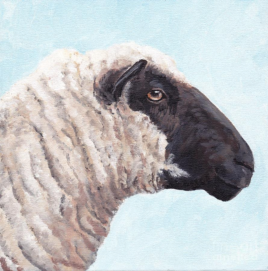 Sheep Painting - Black Face Sheep by Charlotte Yealey