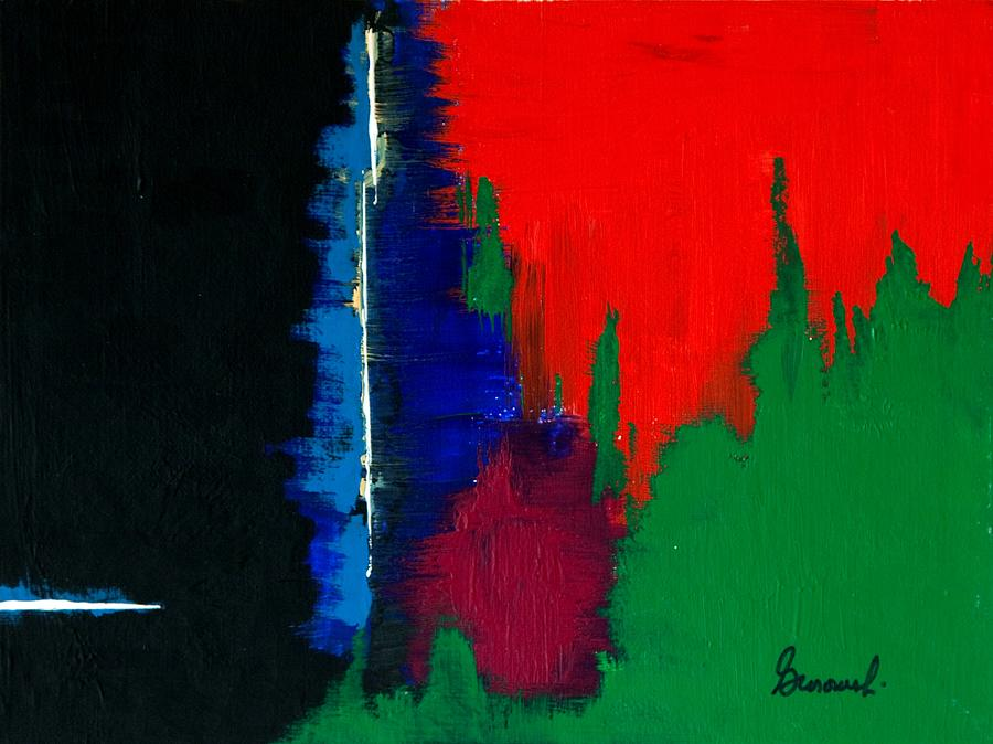 Abstract Painting - Black Forest #4 by Thomas Gronowski