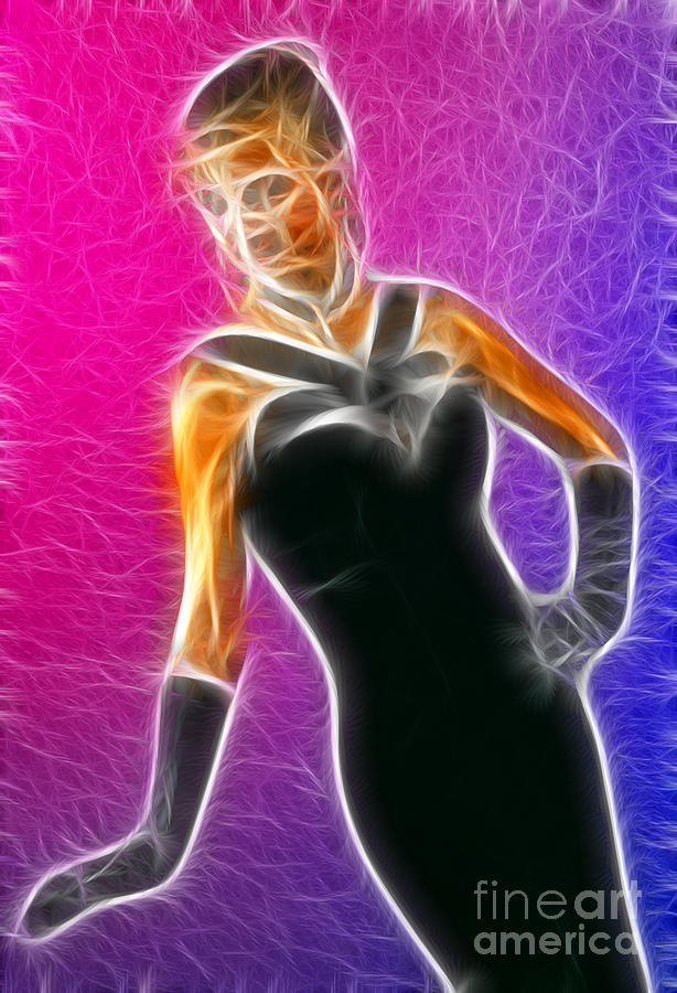 Fashion Photograph - Black Formal Fractal by Gary Gingrich Galleries