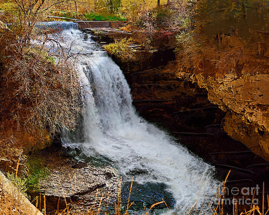 Waterfall Photograph - Black Grouse Falls by Pete Klinger