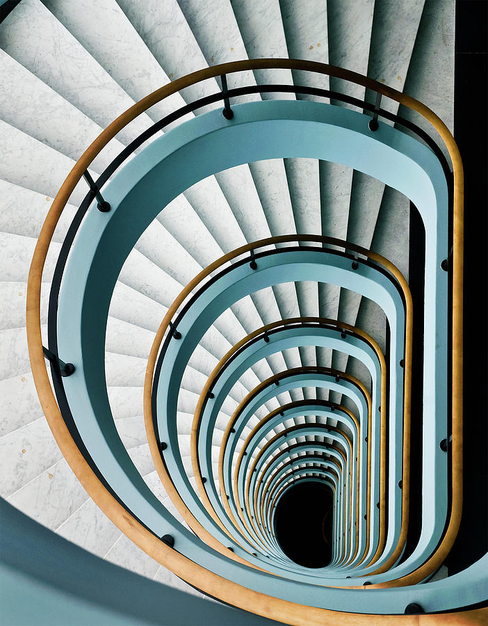 Stairs Photograph - Black Hole by Jef Van Den