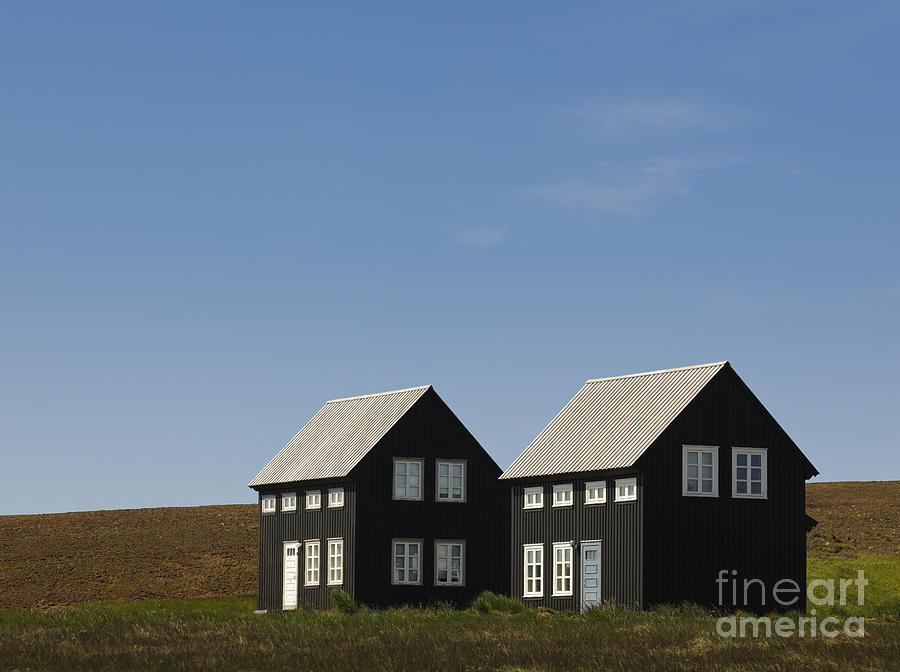 Black Houses, Hellnar, Iceland Photograph by John Shaw