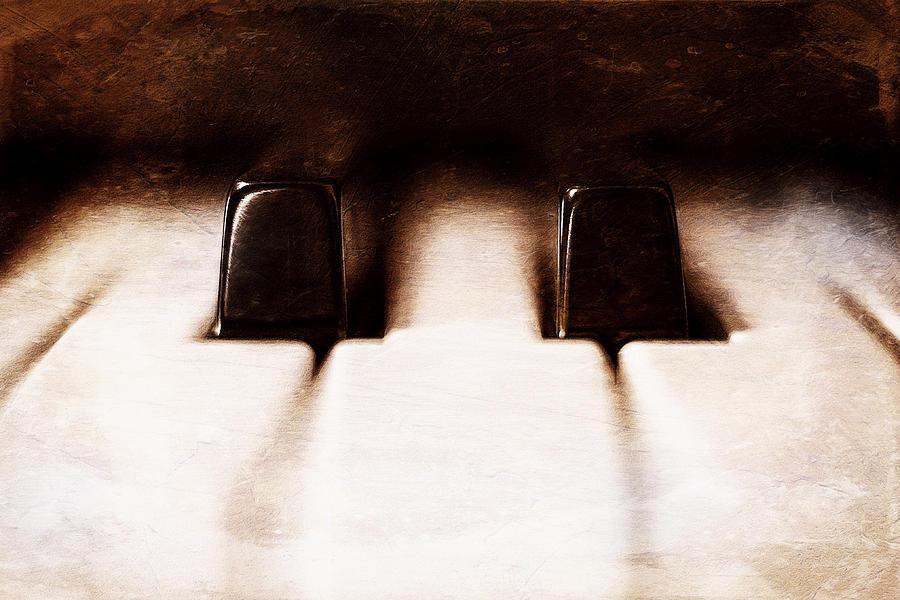 Piano Photograph - Black Keys D Flat And E Flat  by Scott Norris