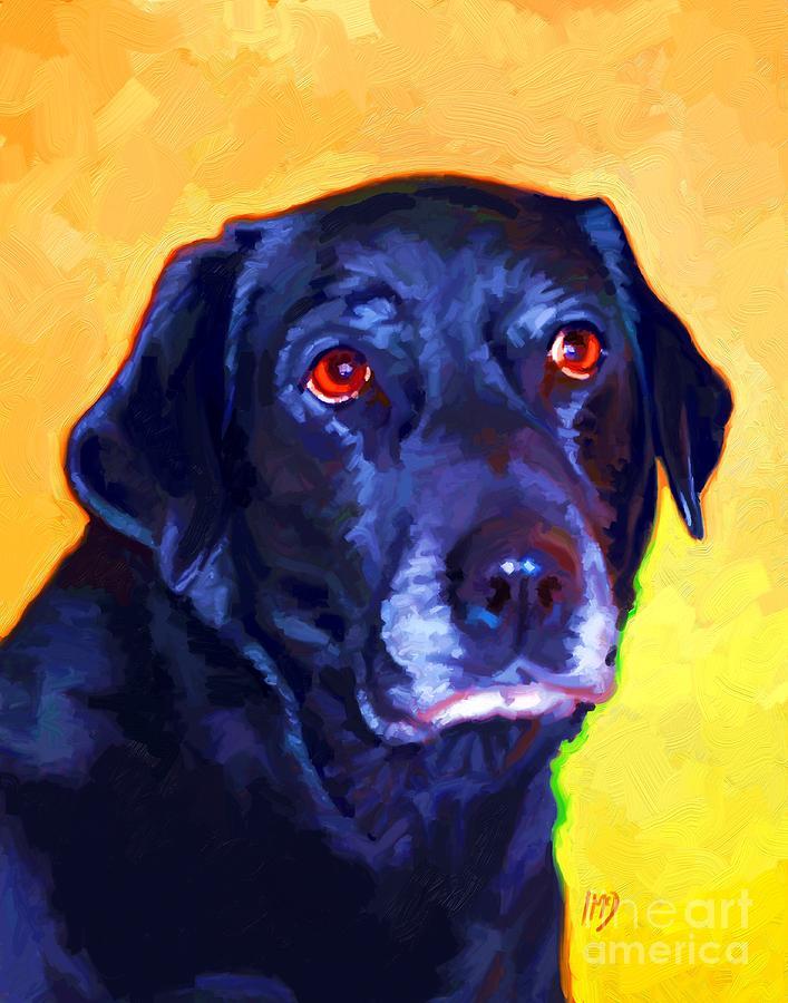 Dog Painting - Black Labrador Art by Iain McDonald