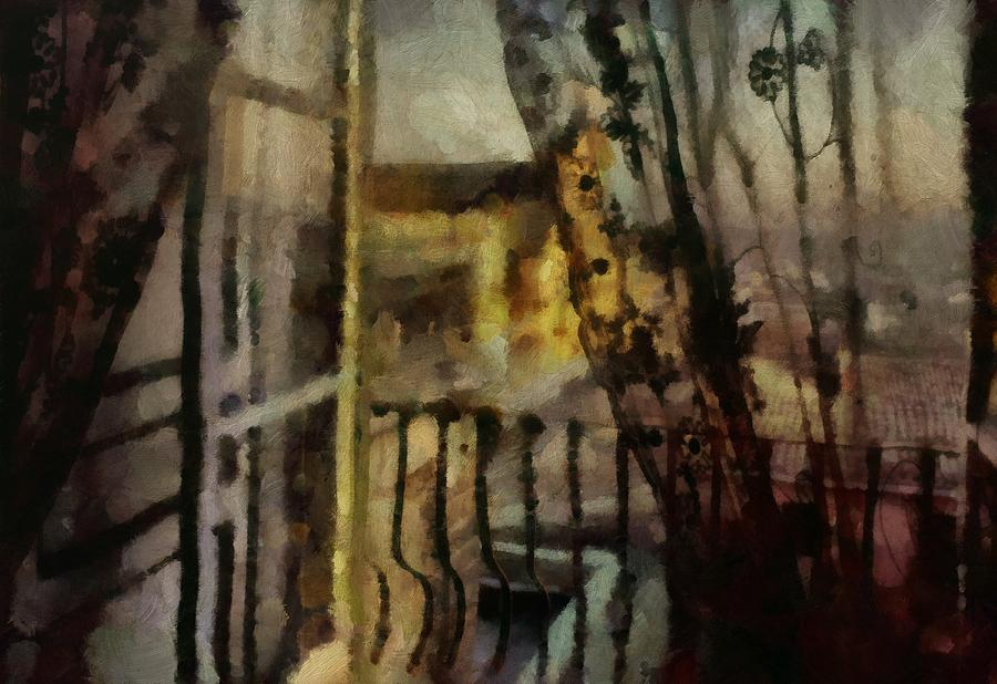 Lace Curtains Painting - Black Lace In Argentina  by Janice MacLellan