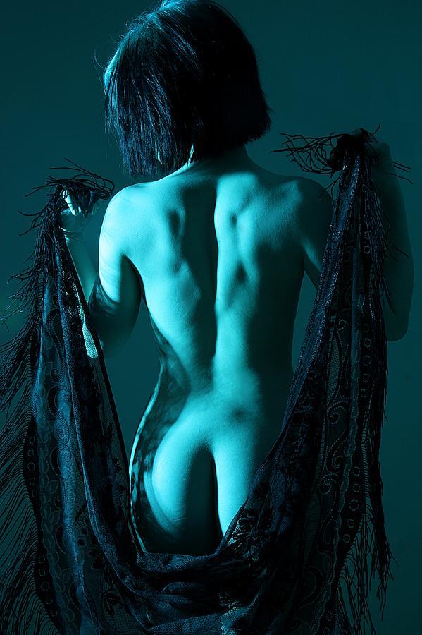Nude Photograph - Black Lace by Joe Kozlowski