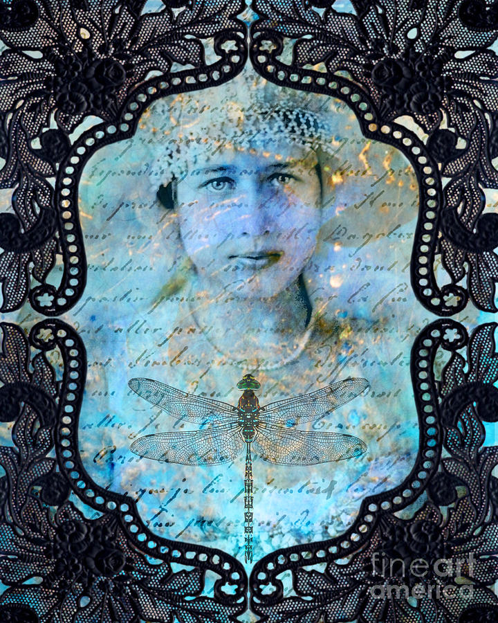 Vintage Digital Art - Black Lace by Judy Wood
