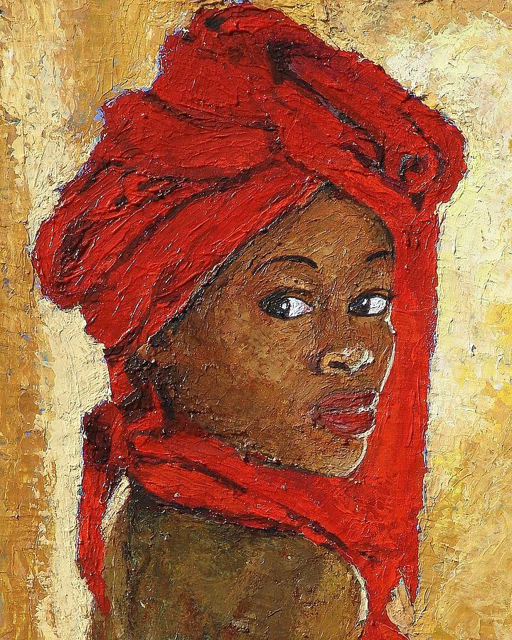 Janet Mixed Media - Black Lady No. 12 by Janet Ashworth