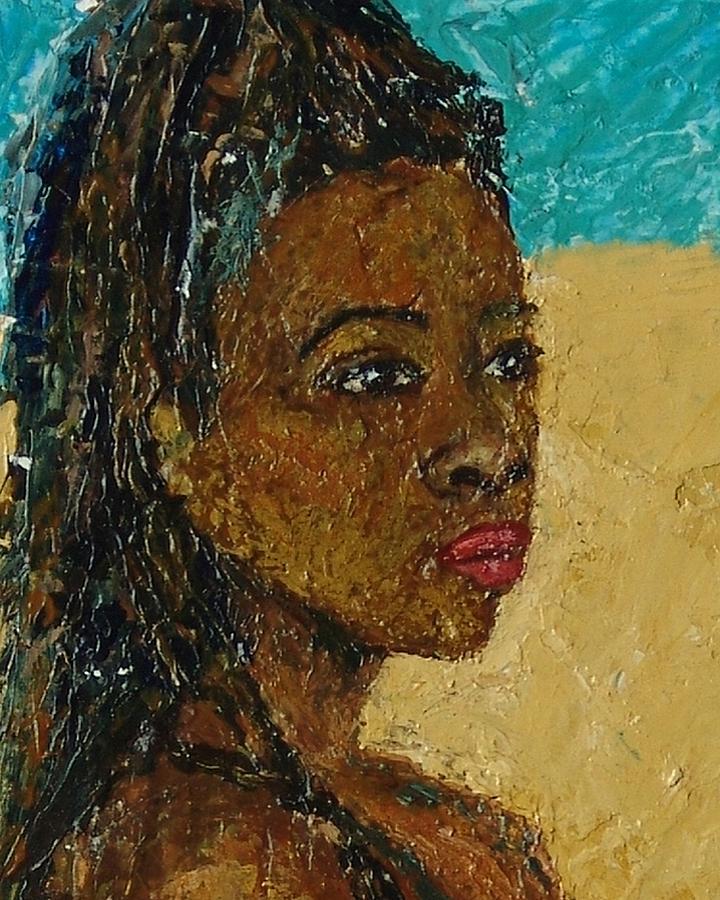Black Lady Mixed Media - Black Lady No.9 by Janet Ashworth