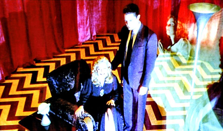 Laura Palmer Painting - Black Lodge by Luis Ludzska
