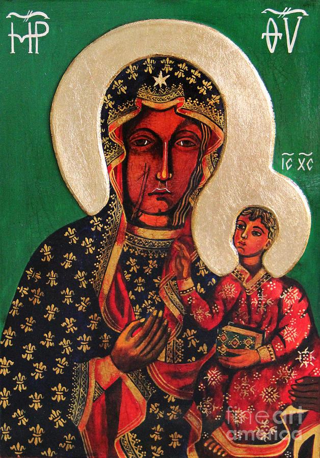 Black Madonna Of Czestochowa Icon IIi Painting