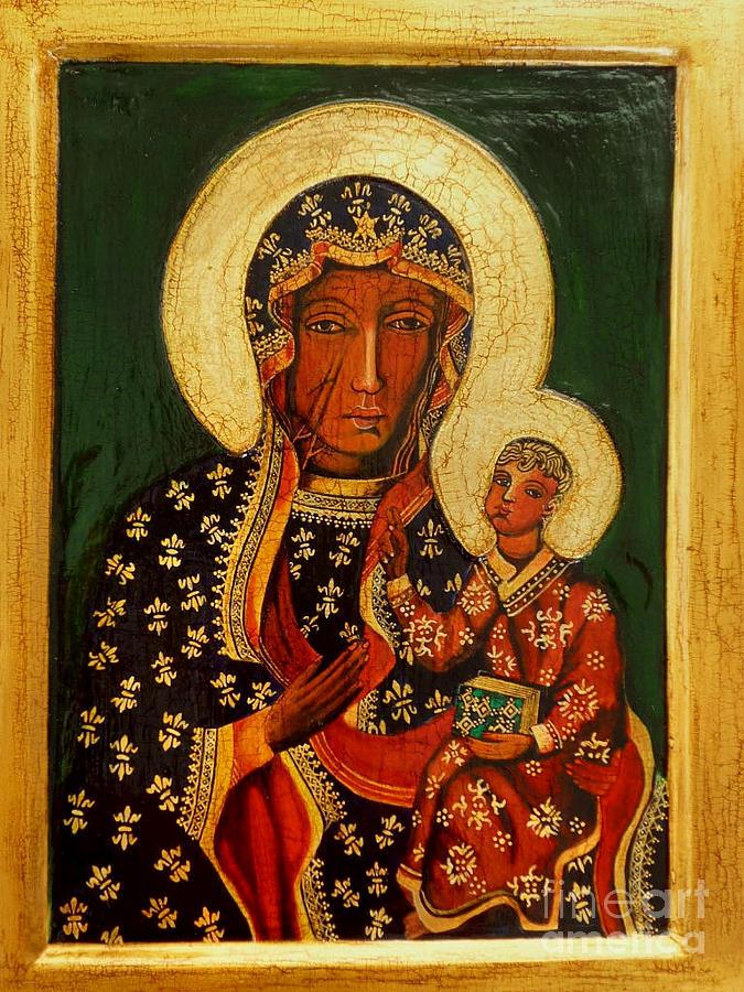 Black Madonna Of Czestochowa Icon Painting