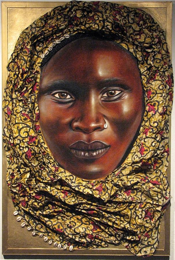 Portrait Painting - Black Madonna by Shonna McDaniels