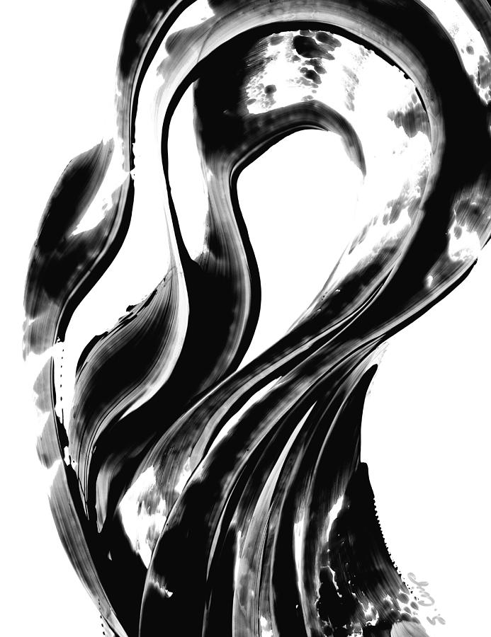 Black And White Painting - Black Magic 306 By Sharon Cummings by Sharon Cummings