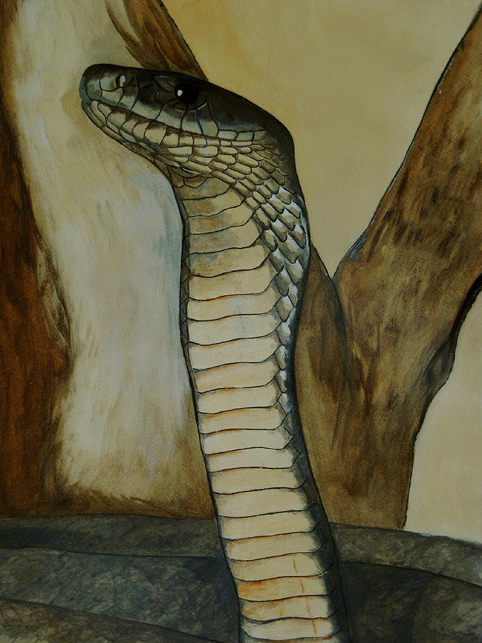 Reptiles Painting - Black Mamba by Tracey Beer