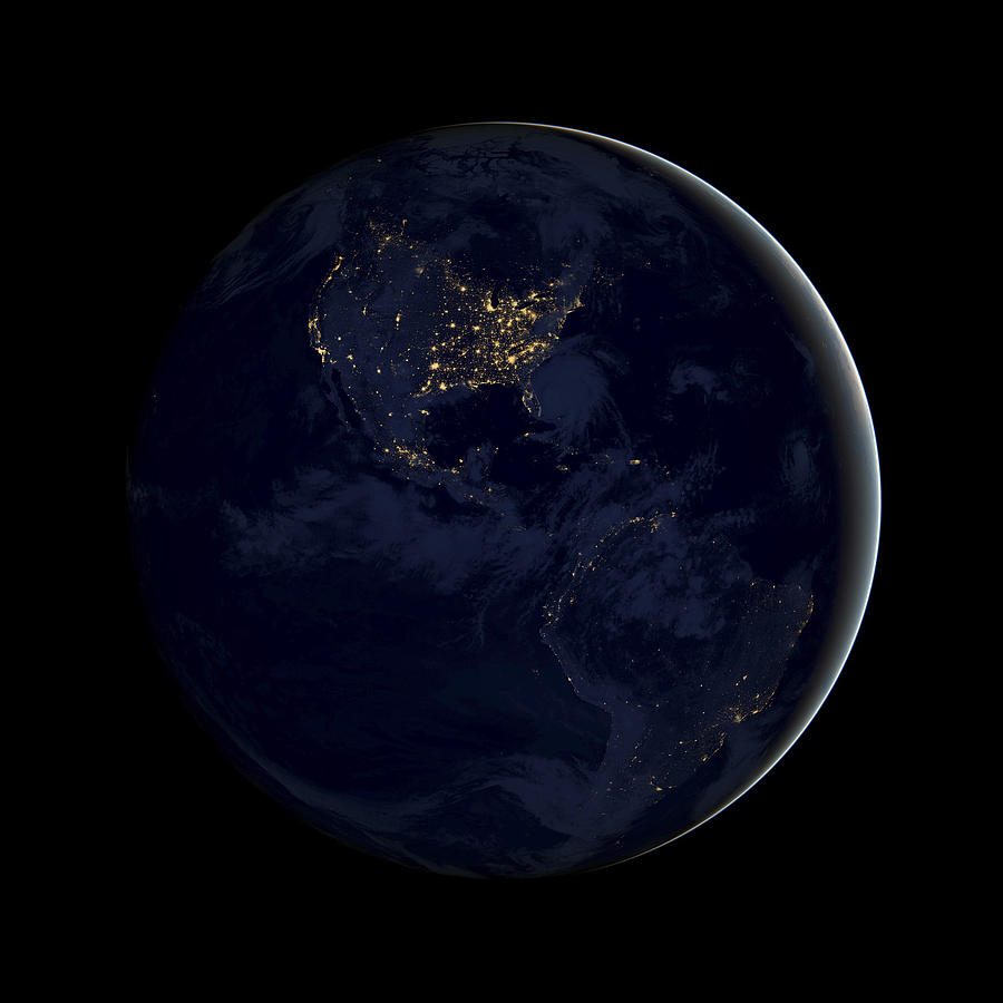 Planet Earth Photograph - Black Marble by Adam Romanowicz