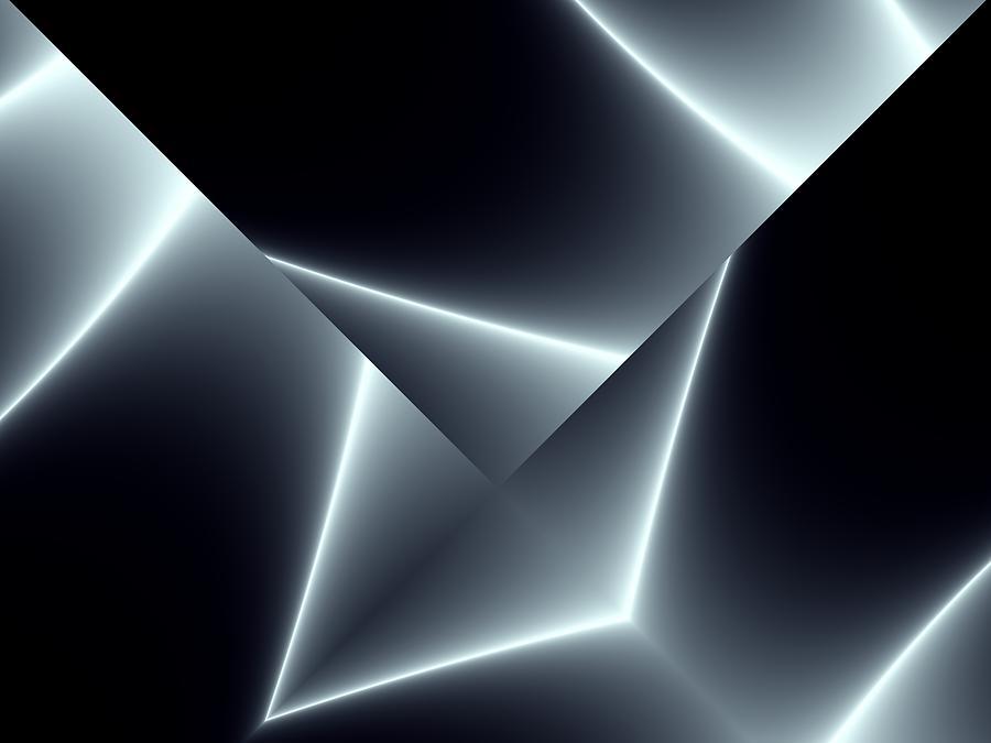 Fractal Digital Art - Black Metal Plate by Igor Sinitsyn