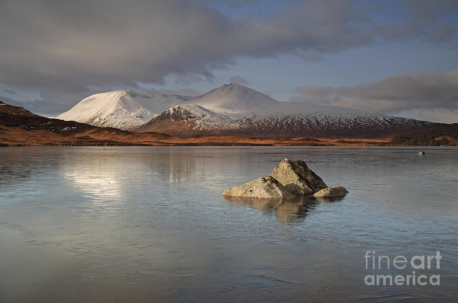 Mountain Photograph - Black Mount And Lochan Na H-achlaise by Maria Gaellman