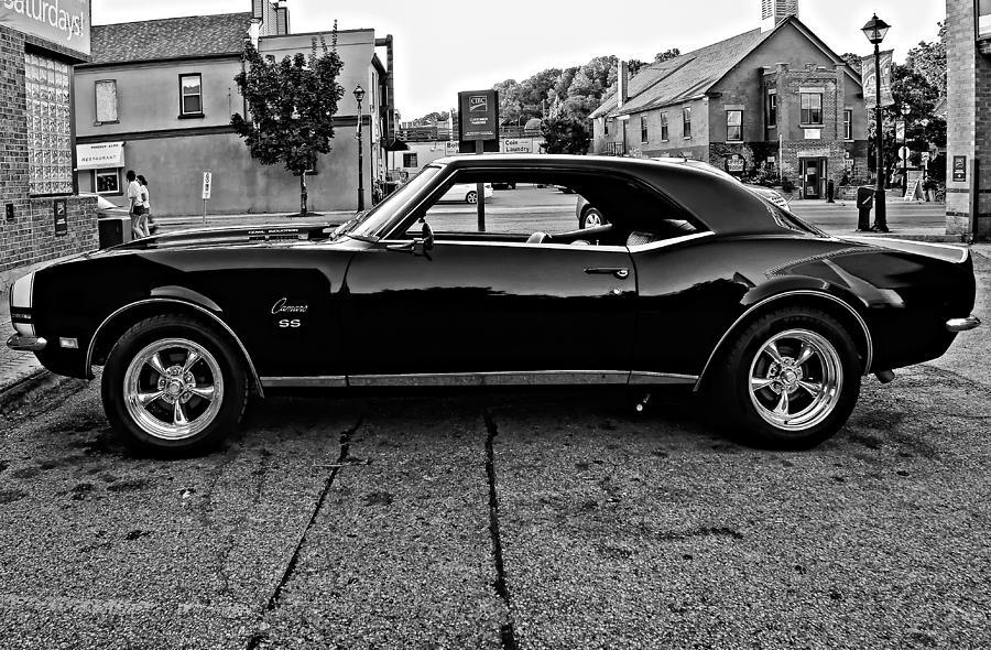 1968 Photograph - Black Muscle Monochrome by Steve Harrington