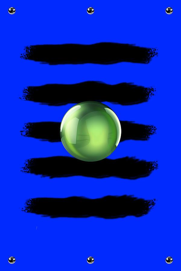 Illustrations Digital Art - Black N Blue by Brian Lyne