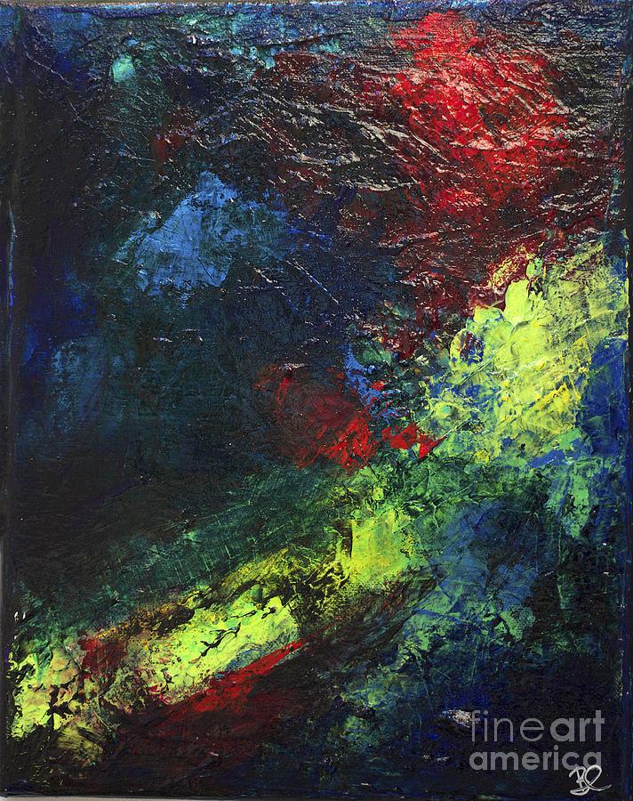 Black Neon Bright Colors Abstract Modern Art Nebula By Chakramoon