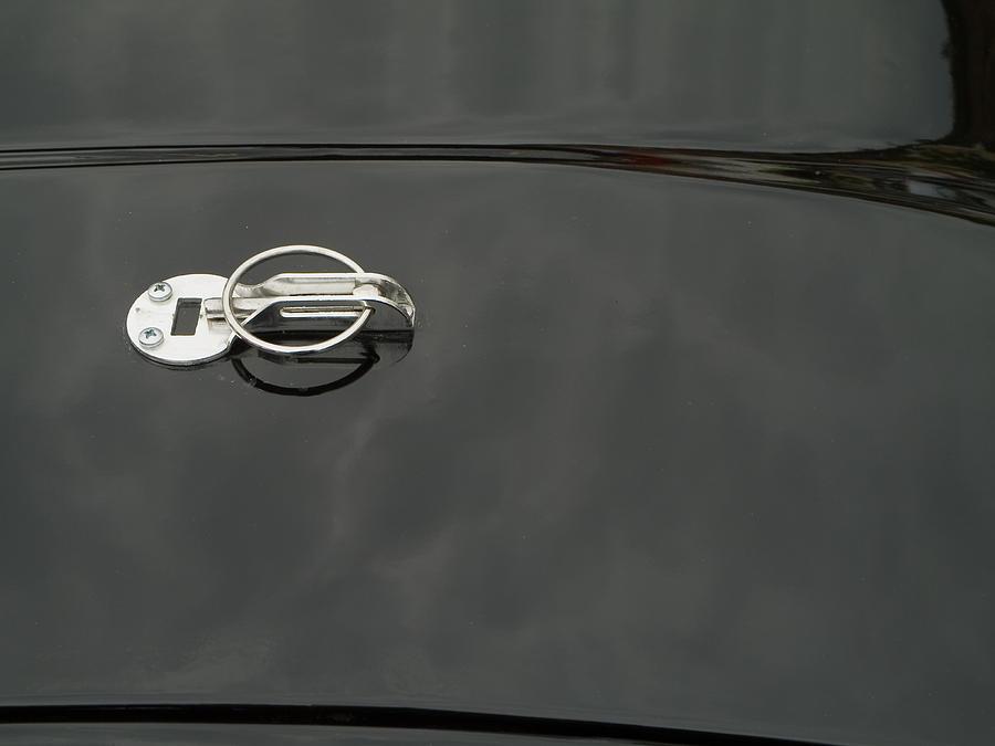 Motorbike Photograph - Black Old Car Detail by Odon Czintos