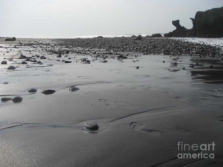 Beach Photograph - Black On Grey by Stav Stavit Zagron