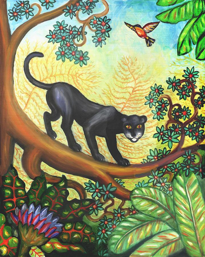 Black Panther Velvet Painting